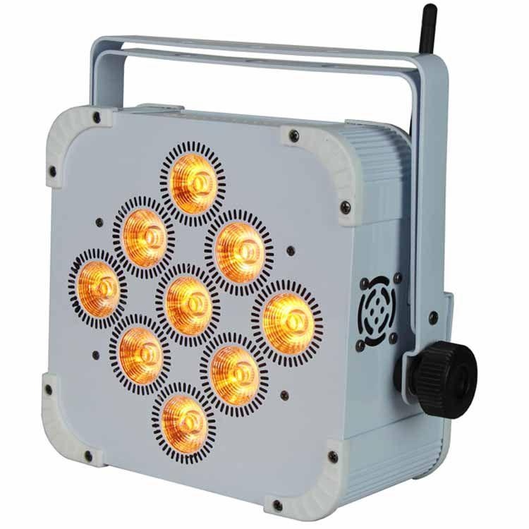 Flat 9PCS LED Battery Wireless Par Light